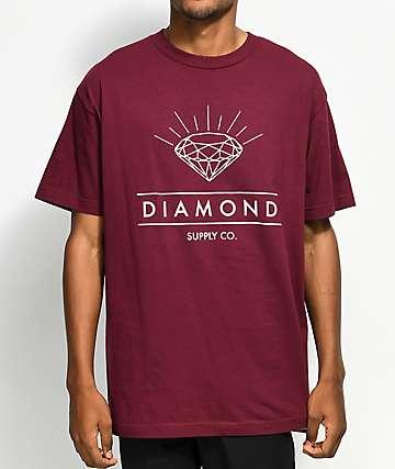 Diamond Supply Co. Radiance Burgundy T-Shirt