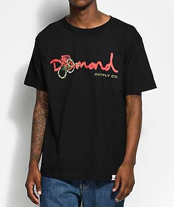 Diamond Supply Co. Rose Snake OG Script Black T-Shirt
