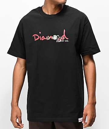 Diamond Supply Co. Rosette camiseta negra