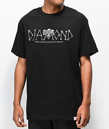 Diamond Supply Co. Secrets Die Black T-Shirt