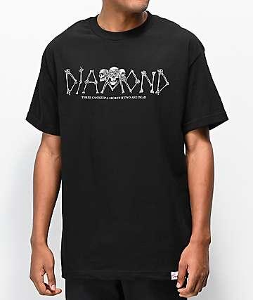Diamond Supply Co. Secrets Die camiseta negra