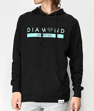 Diamond Supply Co. Stone Cut Black & Blue Hoodie
