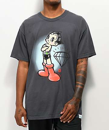 Diamond Supply Co. x Astro Boy Mighty Black T-Shirt