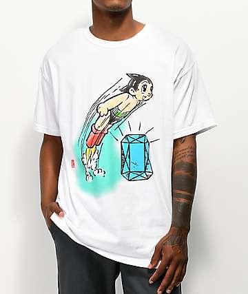 Diamond Supply Co. x Astro Boy Soaring camiseta blanca