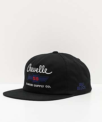 Diamond Supply Co. x Chevelle Black Snapback Hat