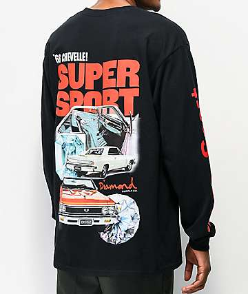 Diamond Supply Co. x Chevelle Super Sport Black Long Sleeve T-Shirt