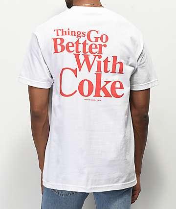 Diamond Supply Co. x Coca-Cola OG Sign White T-Shirt