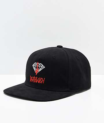 Diamond Supply Co. x Deathwish Sign Black Snapback Hat