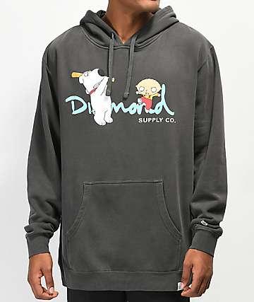 Diamond Supply Co. x Family Guy OG Script Black Hoodie