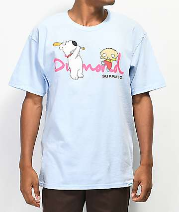 Diamond Supply Co. x Family Guy OG Script Blue T-Shirt