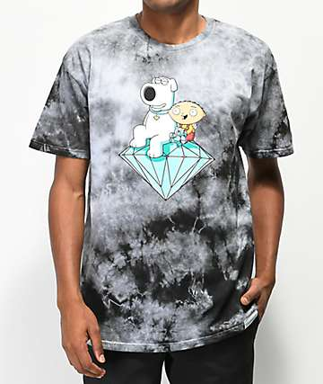 Diamond Supply Co. x Family Guy Stewie & Brian camiseta gris
