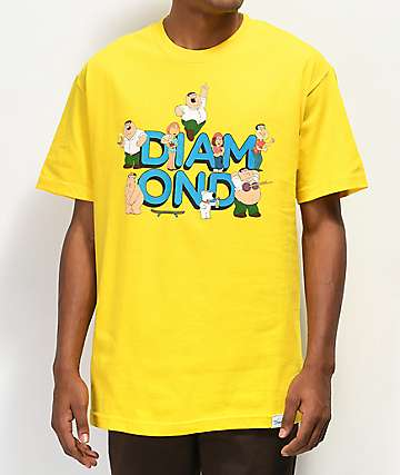 Diamond Supply Co. x Family Guy Yellow T-Shirt