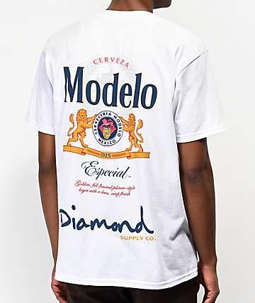 Diamond Supply Co. x Modelo Especial camiseta blanca