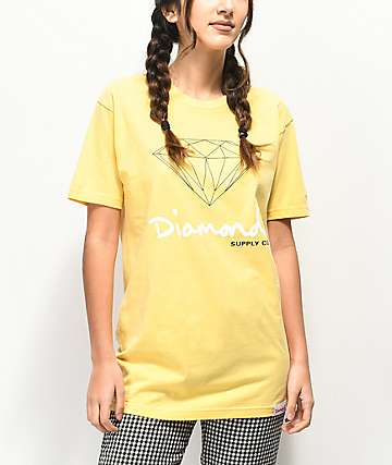 Diamond Supply OG Sign Yellow Boyfriend T-Shirt