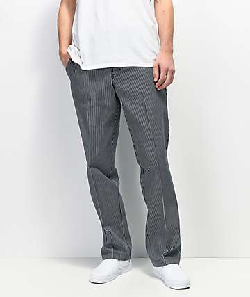 Dickies '67 Hickory Navy & White Stripe Slim Fit Work Pants