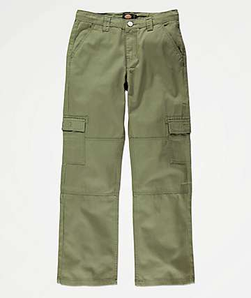 Dickies Boys Olive Cargo Pants