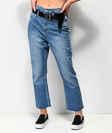 Dickies Cropped Paperbag High Rise Jeans
