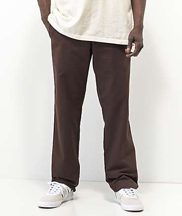 Dickies Flex Chocolate Slim Chino Work Pants