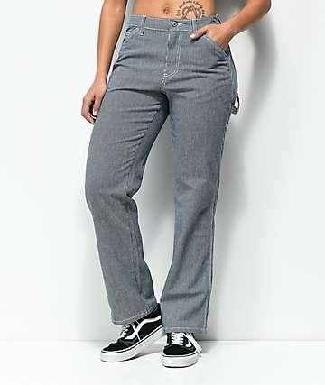Dickies Navy & White Stripe Carpenter Pants