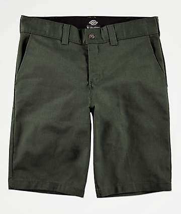 Dickies Olive Slim Work Shorts