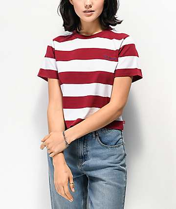 Dickies Stripe Brick Crop T-Shirt