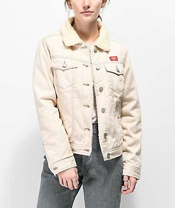 Dickies Twill Sherpa Khaki Jacket