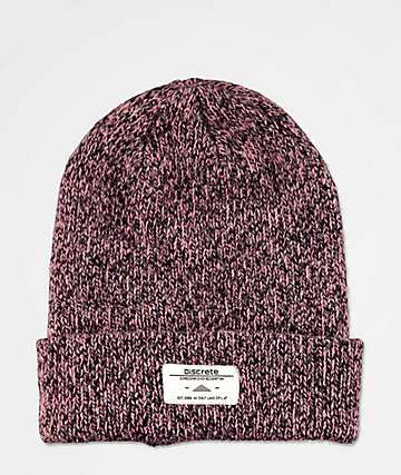 Discrete Cobol Heather & Rose Beanie