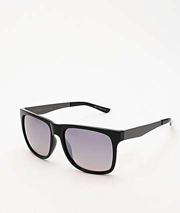 Dot Dash Admiral Black & Grey Chrome Sunglasses