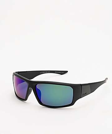 Dot Dash Black Satin & Grey Polarized Sunglasses