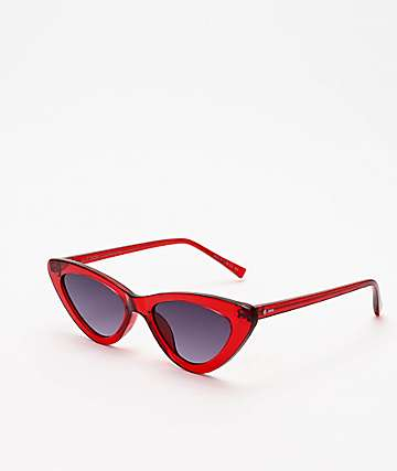 Dot Dash Fabulist Red & Grey Sunglasses