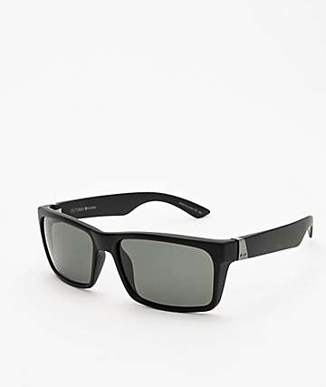 Dot Dash Lads Black Satin & Grey Polarized Sunglasses