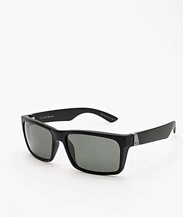Dot Dash Lads gafas de sol polarizadas de satén negro y gris