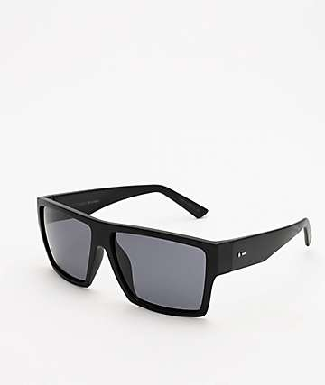 Dot Dash Nillionaire Black Satin & Grey Polarized Sunglasses