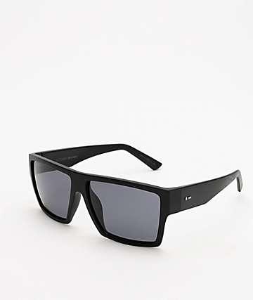 Dot Dash Nillionaire Black Satin & Grey Polarized Sunglasses