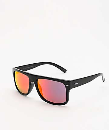 Dot Dash Sidecar Black Gloss & Red Chrome Sunglasses