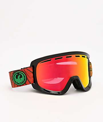 Dragon D1 OTG Irie & Red Ion Snowboard Goggles