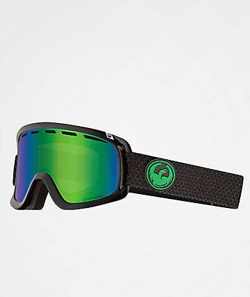 Dragon D1 OTG Split Green Ion Snowboard Goggles