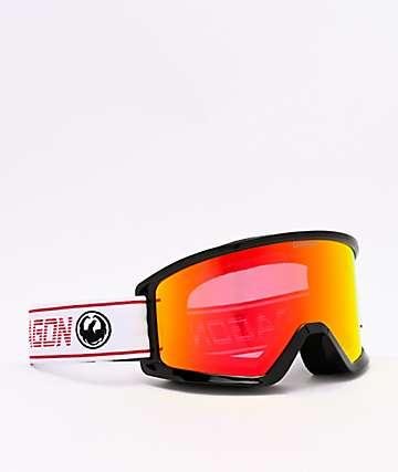 Dragon DX3 OTG Bantam & Red Ion Lumalens Snowboard Goggles