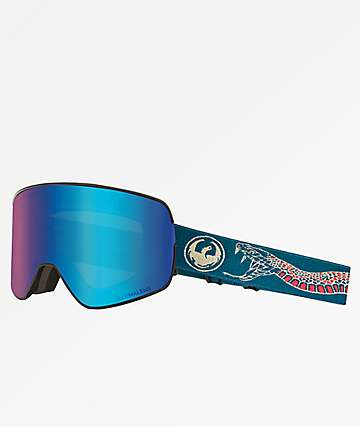 Dragon NFX2 Rattler Blue Ion Snowboard Goggles