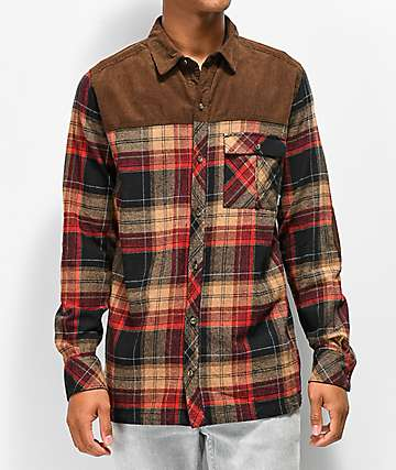 Dravus Cloverdale Brown Flannel Shirt