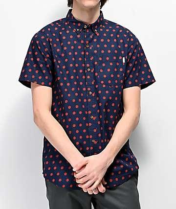 Dravus Daized camisa de manga corta tejida azul marino