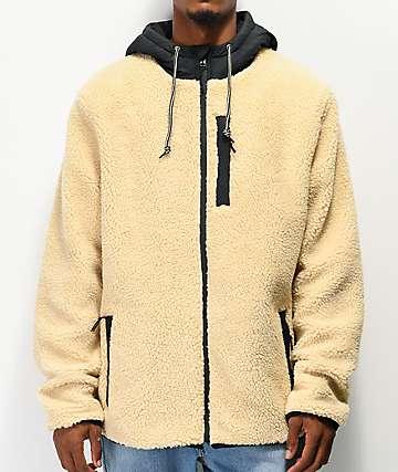 Dravus Denny Cream Colorblock Sherpa Jacket