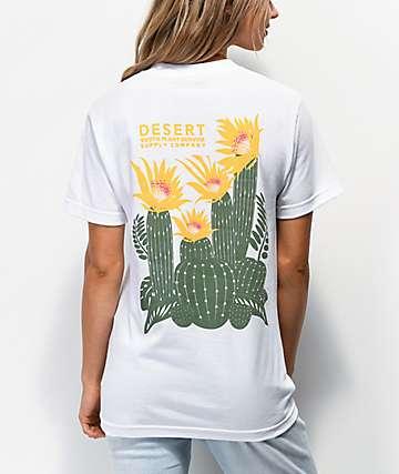 Dravus Desert Cactus camiseta blanca