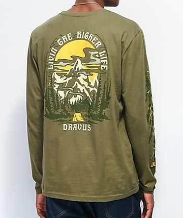 Dravus High Life camiseta de manga larga verde