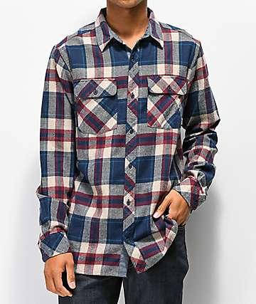 Dravus Jubal Burgundy & Blue Flannel Shirt
