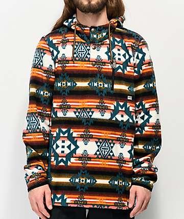 Dravus Mckinnley Brown & White Tech Fleece Jacket
