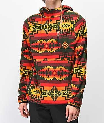 Dravus Mckinnley Red Tribal Tech Fleece