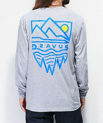 Dravus Mountains Grey Long Sleeve T-Shirt