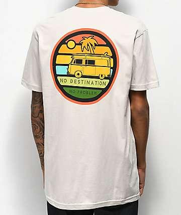 Dravus No Destinations camiseta blanquecina
