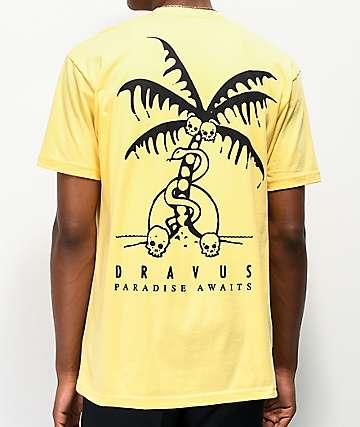 Dravus Paradise Awaits camiseta amarilla